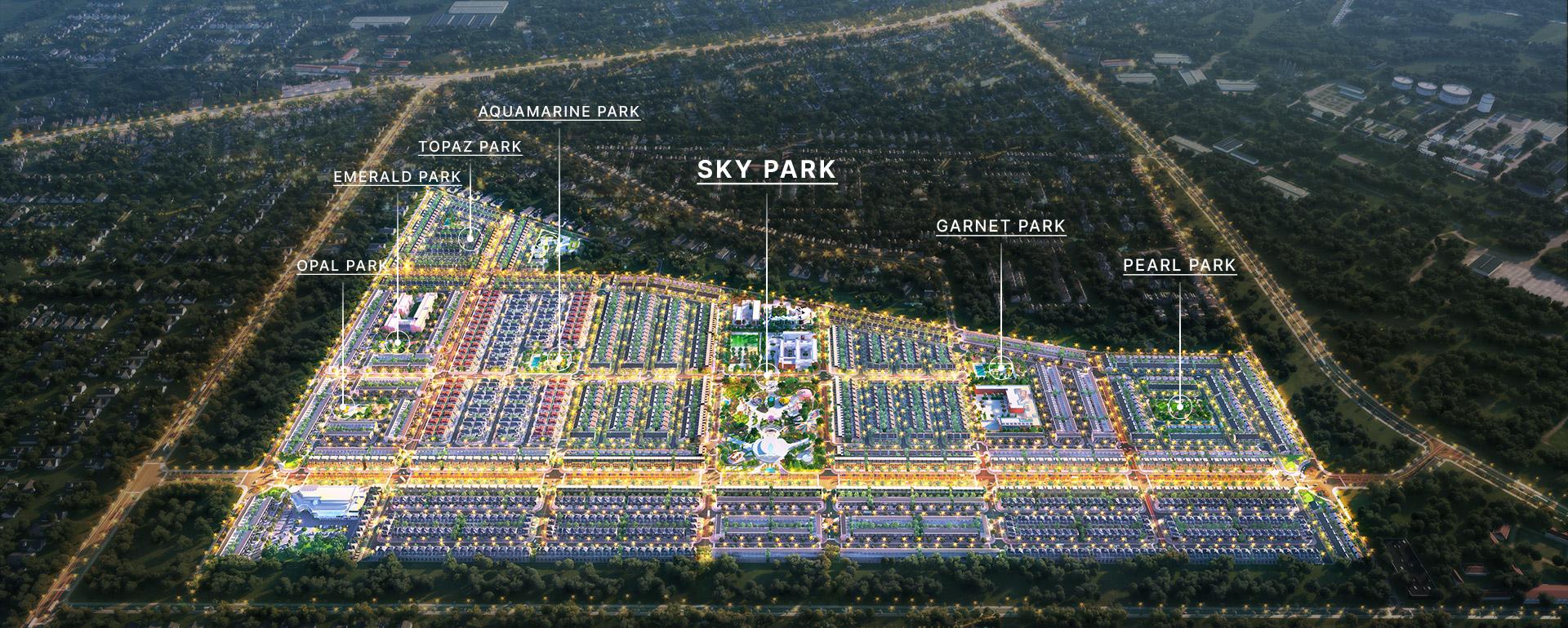 Dự án với 5 phân khu chức năng gồm đất ở, đất giáo dục, đất thương mại, đất công viên cây xanh và hạ tầng giao thông… với 3 loại hình sản phẩm chính: Nhà liên kế phố, nhà liên kế vườn và nhà phố shophouse thương mại. Theo nhận định của các chuyên gia trong ngành đánh giá dự án Gem Sky World sẽ không ngừng gia tăng giá trị và phát triển bền vững trong tương lai gần và sẻ là tâm điểm của thị trường trong thời điểm hiện tại.