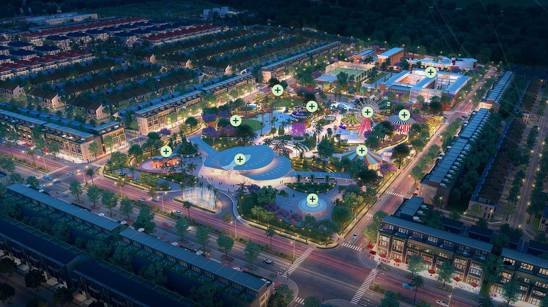 công viên trung tâm dự án gem sky world