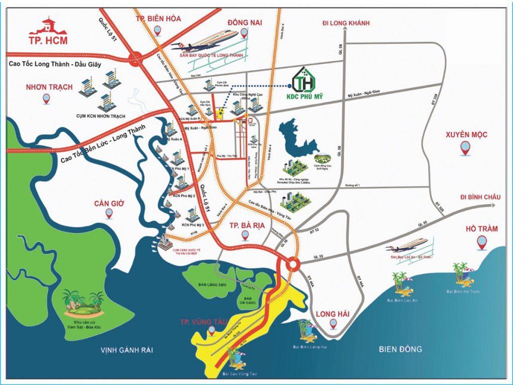Khu dân cư Phú Mỹ Technohome 2 tọa lạc ngay trung tâm thị xã Phú Mỹ, tỉnh Bà Rịa – Vũng Tàu, khu vực đang có sự chuyển mình mạnh mẽ từ hạ tầng giao thông đến kinh tế thương mại, hệ thống giao thông huyết mạch quốc gia đi qua như QL51, QL56, tuyến đường cao tốc Biên Hòa – Vũng Tàu và đặc biệt là Sân Bay Quốc Tế Long Thành đã được quy hoạch và sẽ đi vào hoạt động trong thời gian tới.